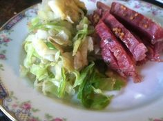 Classic Irish Corned Beef & Cabbage made the healthy way, slow cooked in the crock pot.