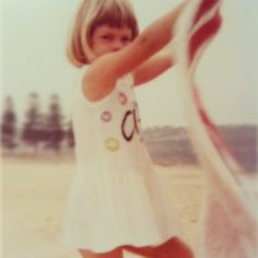 """#hairphotoaday 20. My hair as a child - at the beach"""