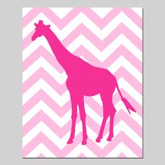 Chevron Giraffe  8x10 Print  Modern Nursery Decor  Kids by Tessyla, $20.00