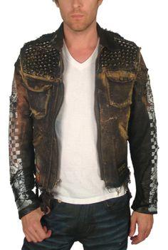 "front Men's JUNKER - ""DENIM & LEATHER"" Jacket - JransomLA, Innovative, edgy women's and men's boutique - J Ransom Clothing Store"