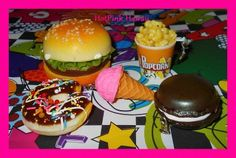 5 Squishy Ice cream Popcorn Hamburger Chocolate Doughnut Kawaii Phone Charms*USA