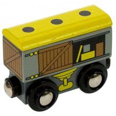 Goods Wagon. Toy wooden train by Bigjigs.  Wooden toys. Imaginative Play. Preschooler. Preschool. Toddler. Fun. Learning. Educational.