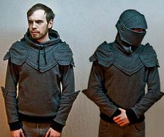 Armored Knight Hoodie--I will get a white cloak and wear it as a mighty knight of the Kingsguard.