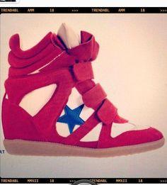 Sneaker wedges... Love the star :)