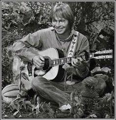 John Denver on the Muppet Show, photograph, black and white, guitar, never forget, celeb, famous, musician, singer
