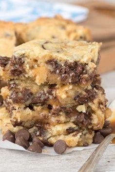 CHOCOLATE CHIP CARAMEL BUTTER BARSReally nice recipes. Every  Mein Blog: Alles rund um die Themen Genuss & Geschmack  Kochen Backen Braten Vorspeisen Hauptgerichte und Desserts