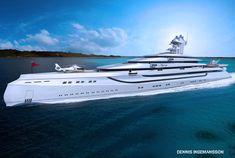 Yachtkonzept Her Majesty – Superyacht, Luxusyacht 3D Design, Superyachten, Megayachten, Megayacht, Konzept, Entwurf, Yacht, Luxus