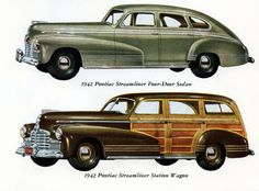 Pontiac Streamliner Sedan N Station 1942 - Mad Men Art: The 1891-1970 Vintage Advertisement Art Collection