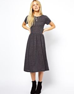 ASOS | ASOS Midi Smock Dress in Nepi at ASOS