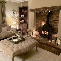 Home Renovation Living Room Home inspiration cosy living rooms 26 Ideas Cozy Fireplace, Living Room With Fireplace, Cozy Living Rooms, My Living Room, Small Living, Cosy Living Room Decor, Modern Living, Woodland Living Room, Cosy Home Decor