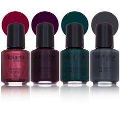 New in box Skylark Shiver Shades Mini Nail Polish set.  The colors are Flaming Berries, For Shay, Ivy Thyme, and Steel My Thunder.  $7.50 for the set.
