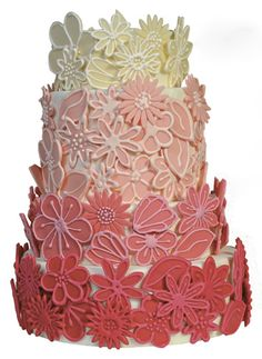 Such a cool cake from Kathryn Crockett Cakes!  http://www.borrowingbrides.com/have-your-cake-and-eat-it-too/#