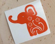 Elephant Monogram Decal Monogrammed Elephant Decal Cute - Elephant monogram car decal