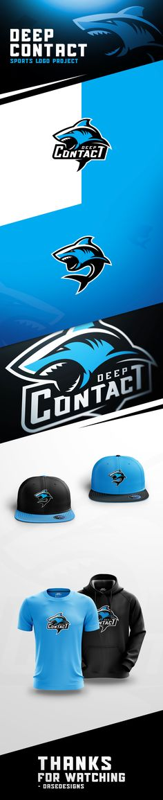 """""""Deep Contact"""" - A recent Shark Sports Logo created for practice! Now in use by an eSports Team! These logos or designs, cannot in any form be use, recreated, or distributed at all."""