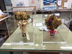 Custom Acrylic Display Boxes for Wedding Bouquets. Call us at 214-742-6032 or email Lynn@EDPlastics.com for your own custom display box.
