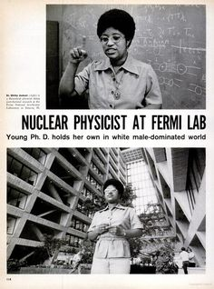 Dr. Shirley Ann Jackson, the first black woman to earn a doctorate from Massachusetts Institute of Technology in nuclear physics.