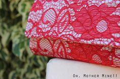 Bolso de mano de encaje DIY como hacer un bolso de mano