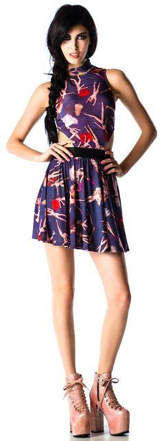 Lip Service Party Barbie Printed Dress | Dolls Kill