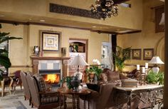 Luxury living room with brown leather furniture My style!
