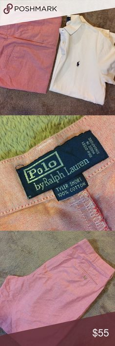 Polo by Ralph Lauren Shorts Polo by Ralph Lauren Pleated Tyler Short salmon color - like New - first color is closest to actual color - Note: I list any obvious imperfections that I see. Please understand if I accidentally oversee something. Polo by Ralph Lauren Shorts