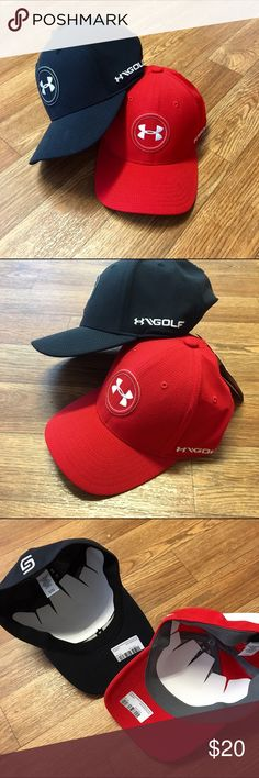 SET of 2 Under Armour Caps Youth Jordan Speith tour hats size SM/MD Under Armour Accessories Hats