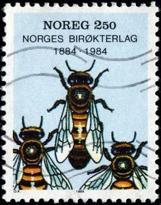 Worker bees, designed by O. Andreen & issued by Norway on June 4, 1984.