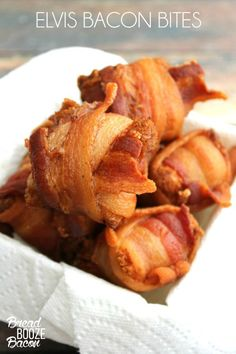 Elvis had it so so right! These Elvis Bacon Bites are crispy, peanut buttery mouthfuls of fried food happiness!  #BaconMonth
