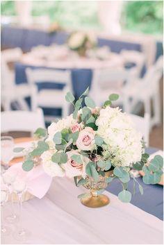 Ivory Wedding Decor, Blush Wedding Reception, Pink Wedding Receptions, Peach Wedding Colors, Blush Wedding Centerpieces, Ivory Wedding Flowers, Blue And Blush Wedding, Baby Blue Weddings, Pink Wedding Decorations