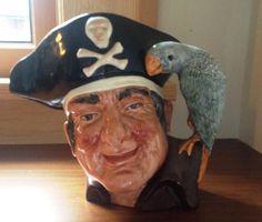 Royal Doulton Long John Silver Large Character Mug Toby Jug in Collectibles | eBay