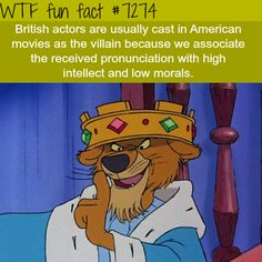 Why a lot of villains in movies have British accent - WTF fun fact