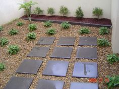 modern lanscape yard geometric
