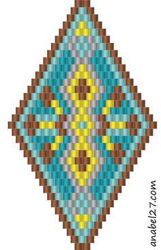 Схемы сережек-ромбиков - мозаичное / кирпичное плетение / Peyote earrings patterns http://anabel-beadpatterns.blogspot.com/