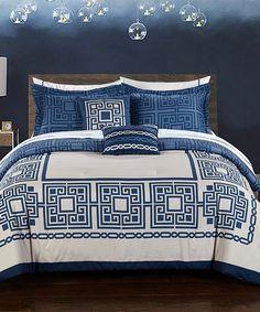 Love this Blue Athena Comforter Set on #zulily! #zulilyfinds