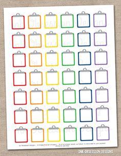 Clipboard Printable Planner Sticker PDF Instant Download Functional Set
