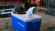 Homemade Air Conditioner (Use Ice From water for better effect) - YouTube
