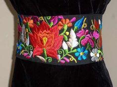 cintos bordados mexicanos - Buscar con Google