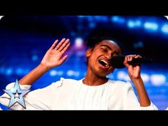 """Jasmine Elcock sings """"Believe"""" on Auditions Week 4 of Britain's Got Talent Ant and Dec gave her their Golden Buzzer press. Britain's Got Talent, Talent Show, Sound Of Music, My Music, Bgt Auditions, Ant & Dec, X Factor, Alesha Dixon, Old Singers"""