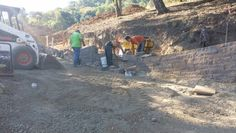 #teamwork is key for any #retainingwall  visit us at www.allaccesslandscape.com