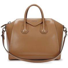 Womens Shoulder Bags Givenchy Antigona Medium Caramel Leather Tote (2 895 AUD) ❤ liked on Polyvore