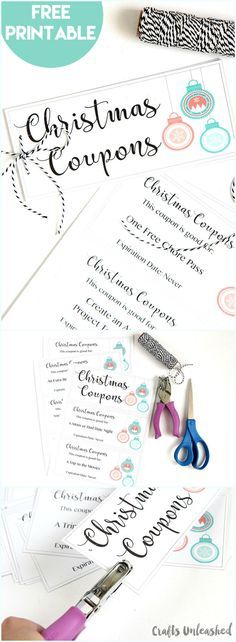 Fully Editable Christmas Coupon Book Printables Pinterest - free coupon book template