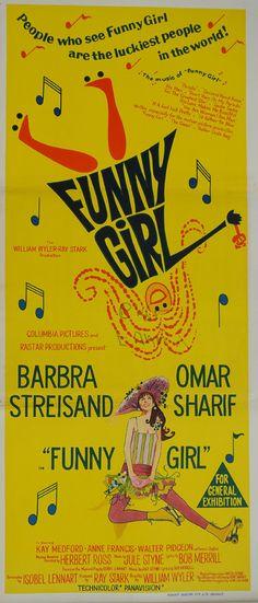 1969 Funny Girl Movie Poster  Original Vintage by OutofCopenhagen
