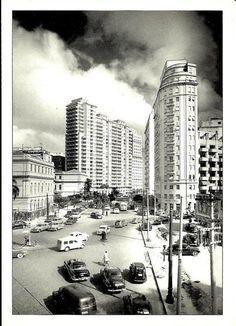 Praça da Republica atrás do Caetano de Campos em direção a Av. São Luis 1950