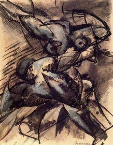 Décomposition dynamique - (Umberto Boccioni)