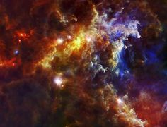 This image from the Herschel Space Observatory shows most the cloud associated with the Rosette nebula, a stellar nursery about light-years from Earth in the Monoceros, or Unicorn, constellation. Herschel collects the infrared light given … Herschel, Space Dust, Space Space, Nasa Images, Space Telescope, Nasa Space, Space Probe, Image Of The Day, Light Year