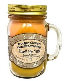 Our Own Candle Company Smell My Nuts Scented Mason Jar Candle, 13 oz.: Our Own Candle Company Smell My Nuts Scented Mason Jar Candle, 13 oz. Mason Jar Candles, Soy Candles, Scented Candles, Fall Candles, Our Own Candle Company, Pumpkin Cream Pie, Funny Candles, Banana Nut Bread, Candle Containers