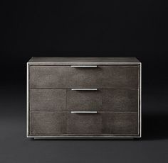 "Smythson Shagreen Closed Nightstand 32""W x 20""D x 22""H $1695 ITEM#65720043 GRY"
