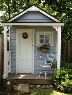 Lady Anne's Charming Cottage: More Charming Garden Sheds. Lady Anne's Charming Cottage: More Charming Garden Sheds. Backyard Storage Sheds, Backyard Sheds, Outdoor Sheds, Shed Storage, Backyard Studio, Backyard Playhouse, Closet Storage, Outdoor Spaces, Cottage Garden Sheds