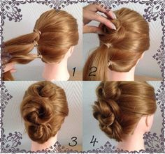 Lovely elegant hairstyle tutorial #bun #Updo