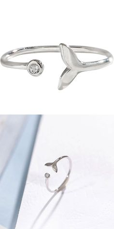Open ring size can be SilverFashion Element:Mermaid/Tail 925 Silver, Silver Rings, Mermaid Ring, Animal Rings, Fish Tail, Rings For Girls, Open Ring, Cute Rings, Fashion Rings