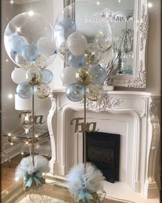 56 Amazing Balloon Decor Ideas for All Celebration Balloons can be one of the most inexpensive and simple decoration for any party, weddings or holiday celebrations. Baby Party, Baby Shower Parties, Baby Shower Themes, Baby Boy Shower, Baby Shower Balloon Decorations, Balloon Garland, Baby Shower Ideas For Boys Decorations, Boy Baby Showers, Cloud Baby Shower Theme